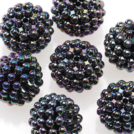 Basketball Wives Jewelry Resin Ball Round Bead Black 16mm Pkg/6