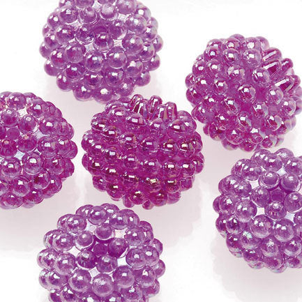 Basketball Wives Jewelry Resin Ball Bead Light Purple16mm Pkg/6