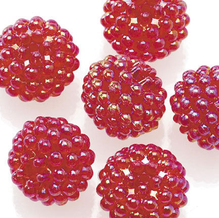 Basketball Wives Jewelry Resin Ball Bead Red 16mm Pkg/6