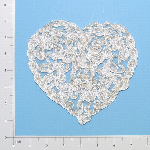 Heart Trellis Soutache Applique Embellishment