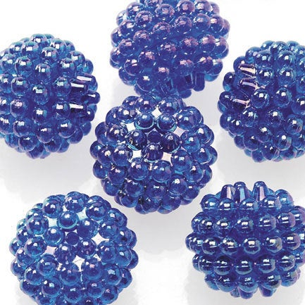 Basketball Wives Jewelry Resin Ball Bead Sapphire Blue 16mm