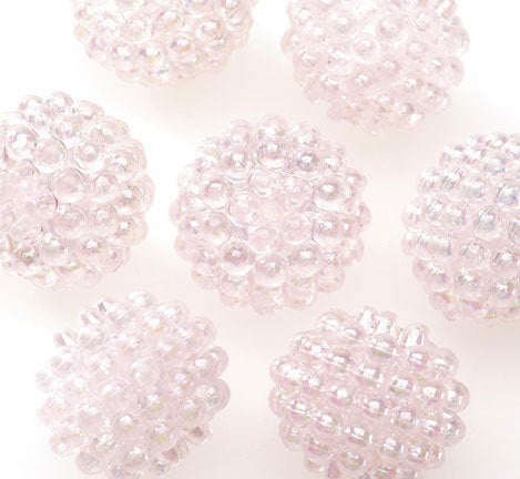 Basketball Wives Jewelry Resin Ball Bead Lt. PInk 16mm Pkg/6
