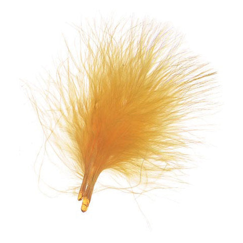 50 pcs - Marabou Feather Picks in Yellow