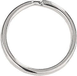 10 Split Ring Key Rings or Chain 1 inch 25mm