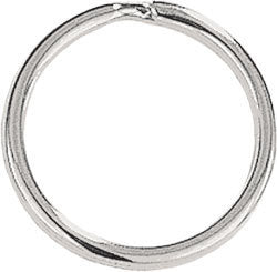 100 Split Ring Key Rings or Chain 1 inch 25mm