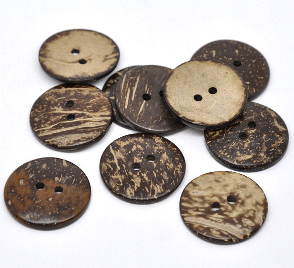 10 Large Wooden Buttons - 1.5 inch - 38mm - Wood Buttons