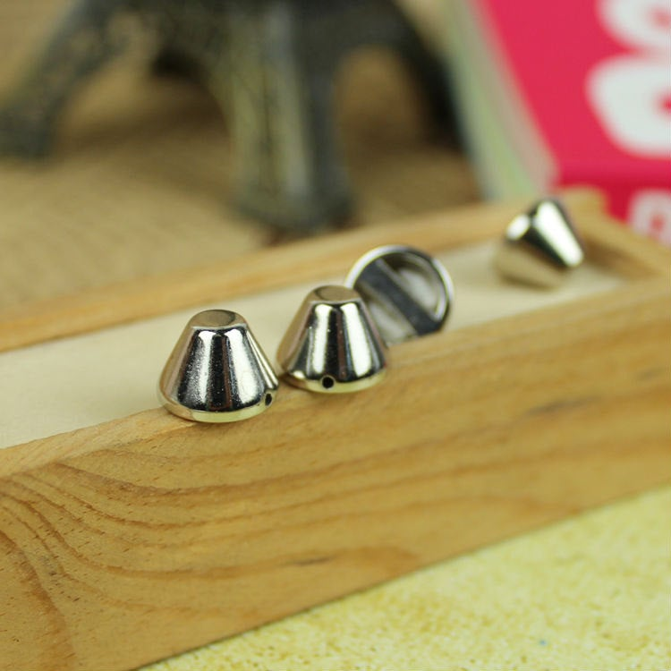 50 Silver Rivet Stud Spikes - Flat Head - Sew on - Glue on - 8mm