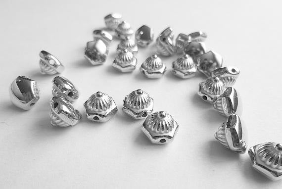 100 Silver Rivet Stud Spikes - 8mm - Sew on - Glue on -  Acrylic