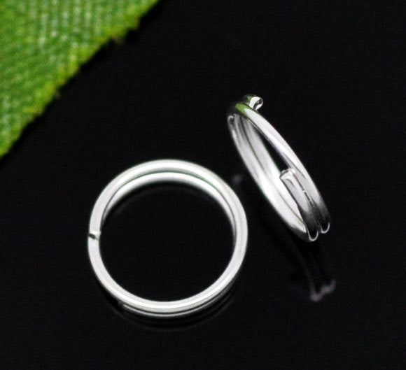 100 Silver Plated Split Rings - 7mm