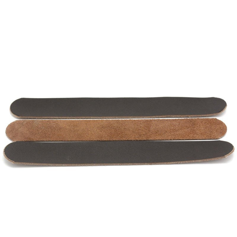 "2 Brown or Black Cowhide Leather Cuff Blank - 23cm x 3 cm (9"" x 1"") Genuine Leather Strap Cuff for Bracelet or Necklace (29056)"