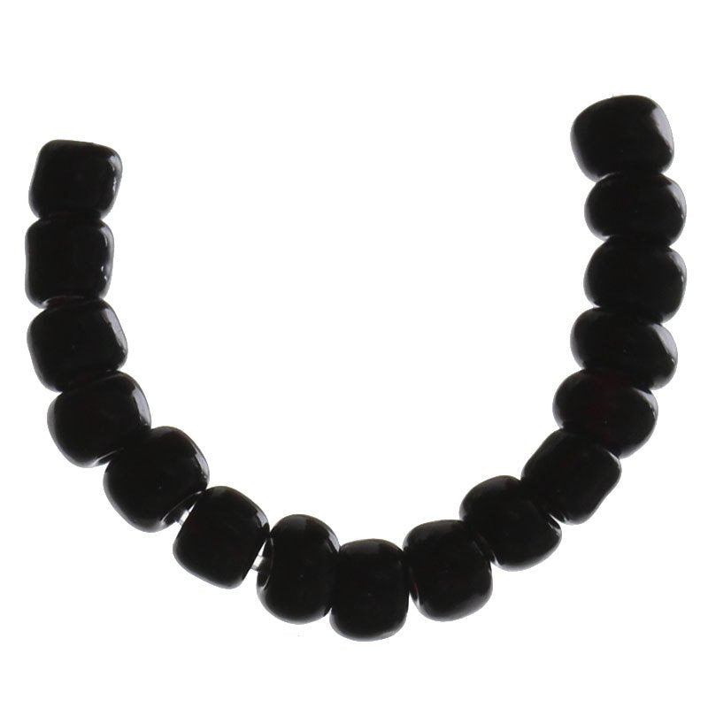8/0 Ceramic Seed Beads 25g (781 beads) - FREE Storage Vial - Black - 3mm x 3mm - Small Ceramic Beads (33025)