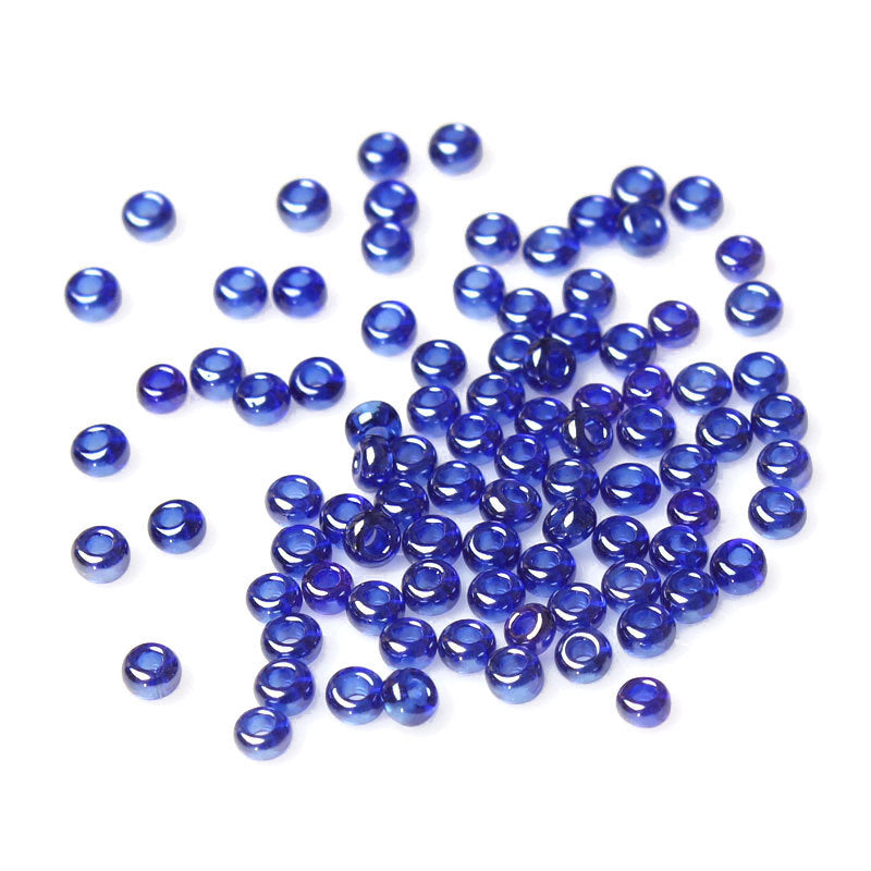 10/0 Glass Seed Beads 25g 3125 Beads  - Dark Blue - 2mm x 2mm - Small Glass Beads (33563)