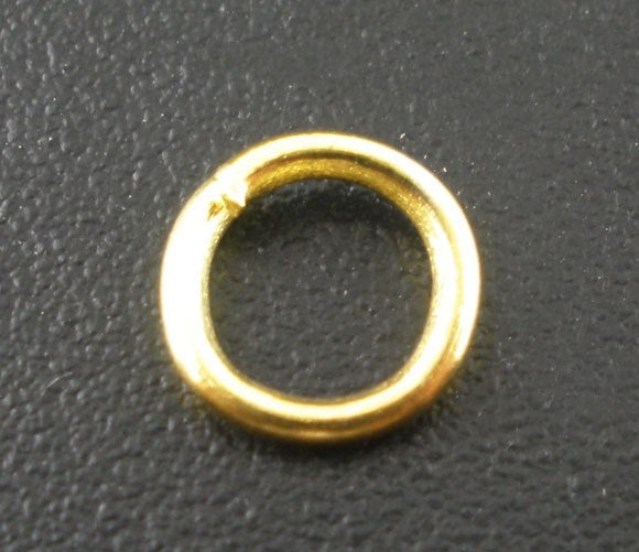 Gold Plated Open Jump Rings - 6mm x 1mm  - Jump Rings Gold Plated - Lead Nickel Safe