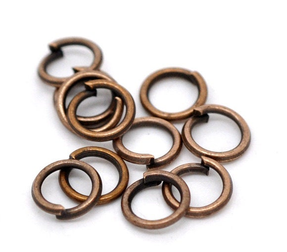 Copper Open Jump Rings - 5mm x 0.7mm  - Jump Rings Copper Finish - Lead Nickel Safe