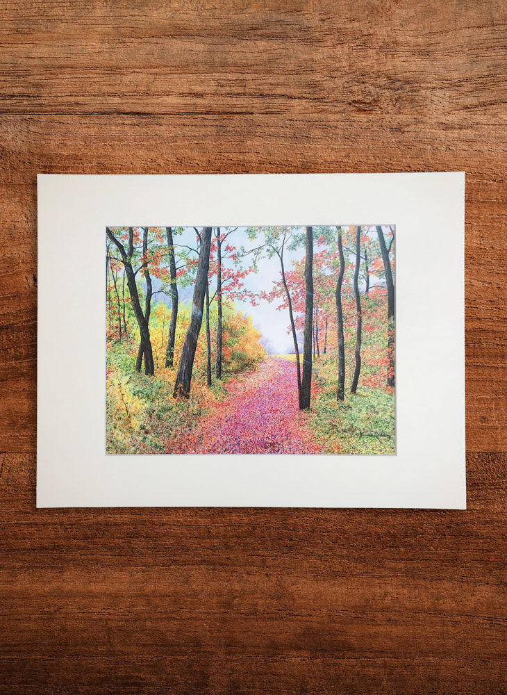 autumn's poetry small landscape painting