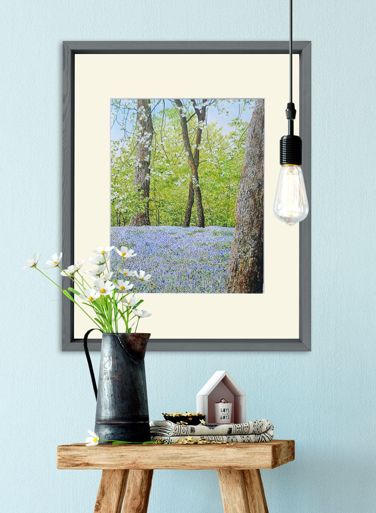 bluebells art home decor