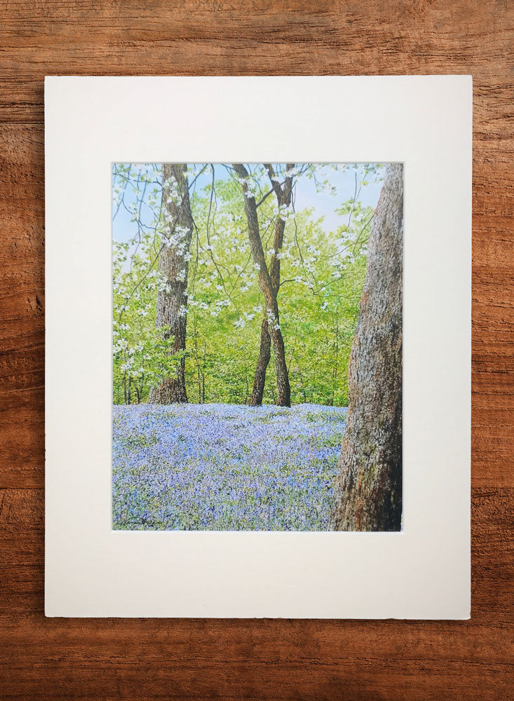 bluebells small landscape painting
