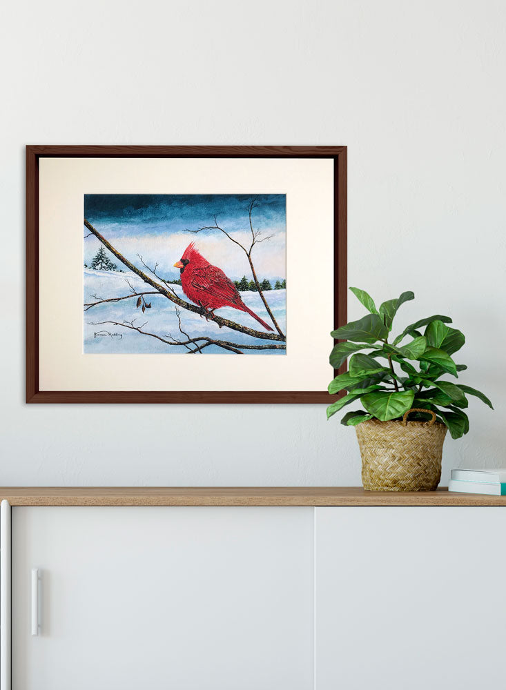 cardinal pastel sky art home decor