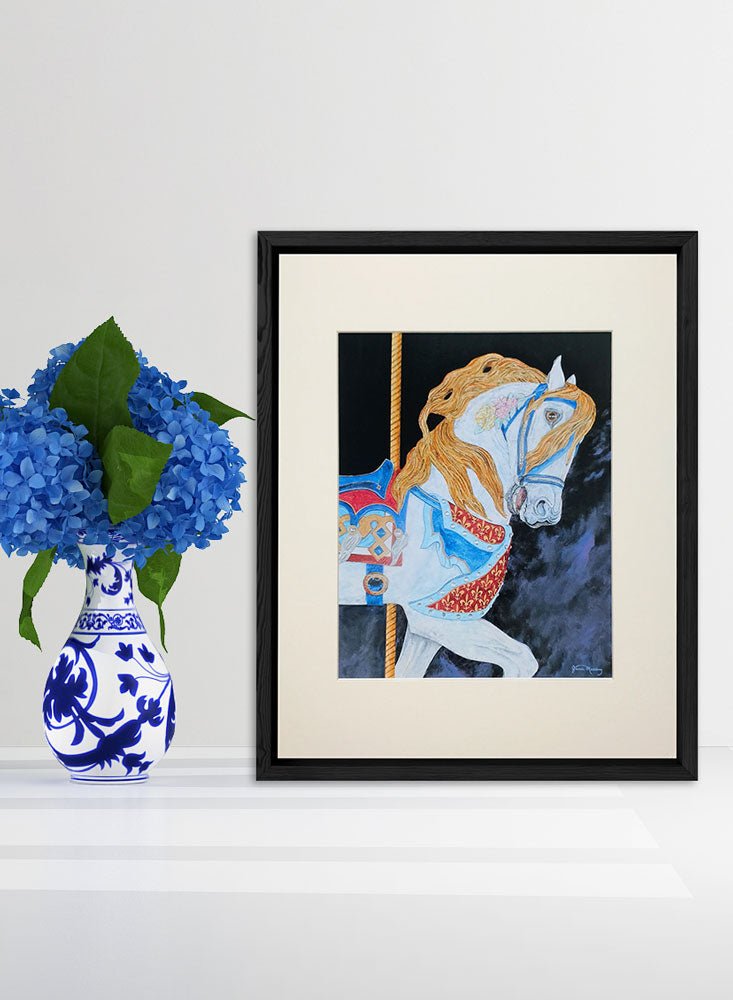carousel horse art home decor