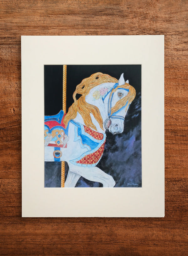carousel horse small horse painting