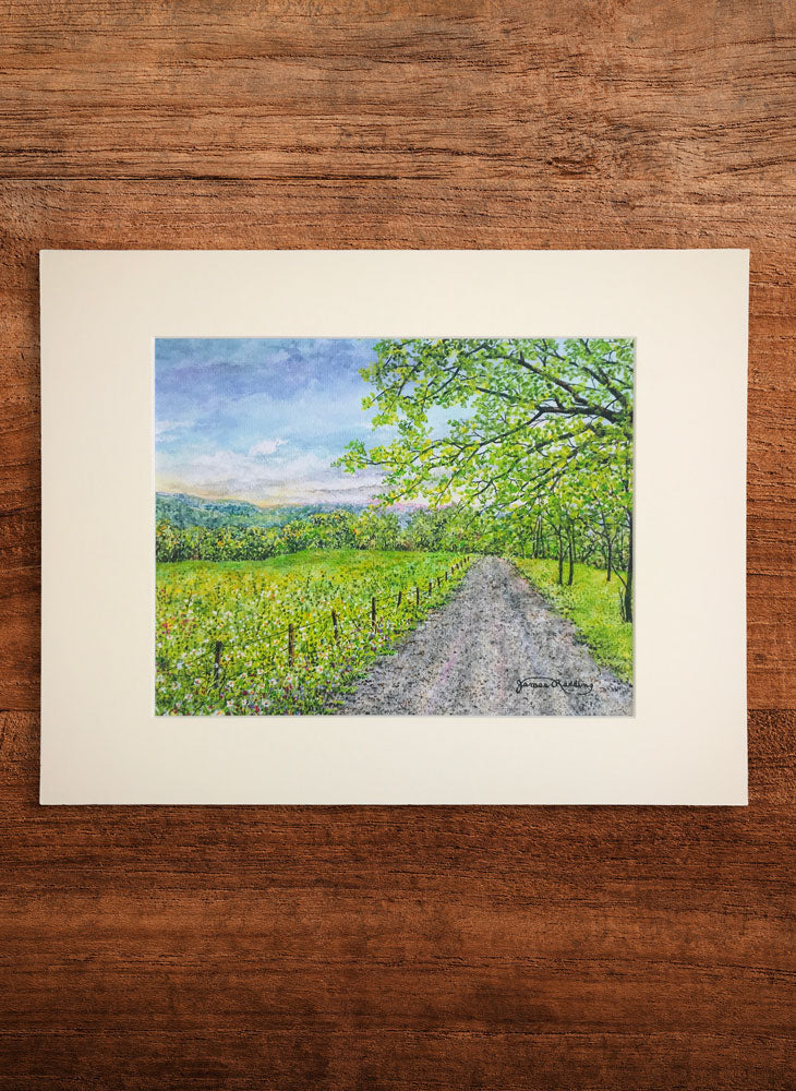 country road small landscape painting