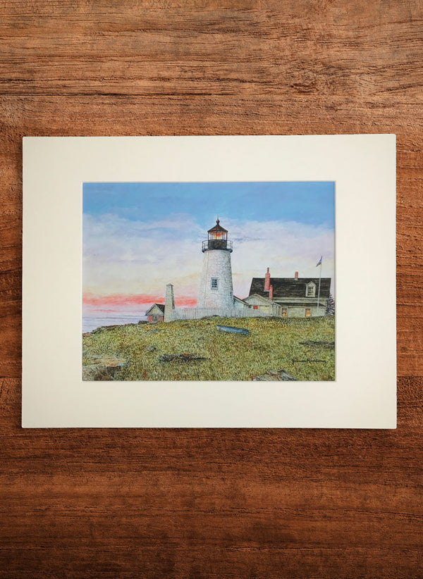 dawn at pemaquid point small landscape painting