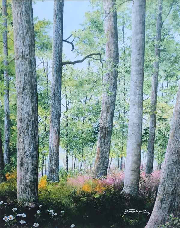 enchanting forest small art painting