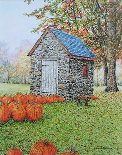 fall is in the air small art painting