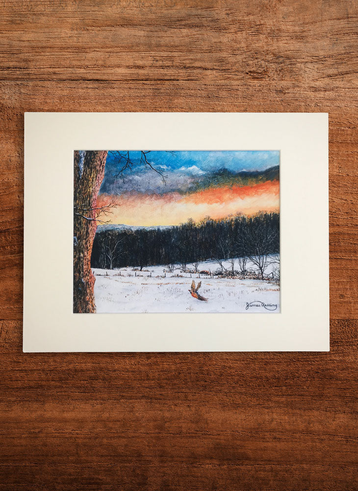 fiery sky small landscape painting