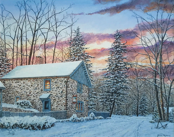 fleecydale winter small art painting