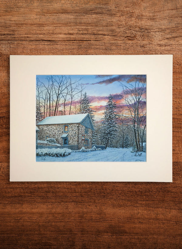 fleecydale winter small landscape painting