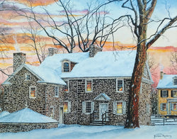mcconkey ferry inn winter small art painting