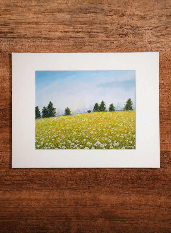 summer meadow small landscape painting