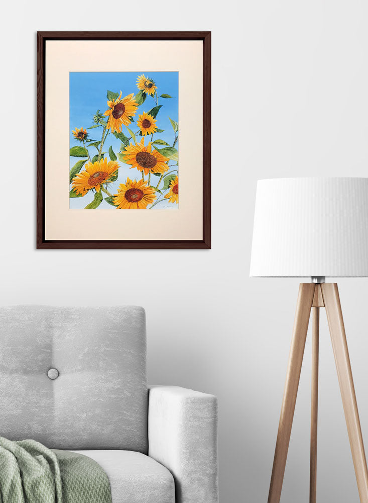 sunflower morning art home decor