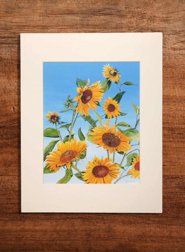 sunflower morning small floral painting