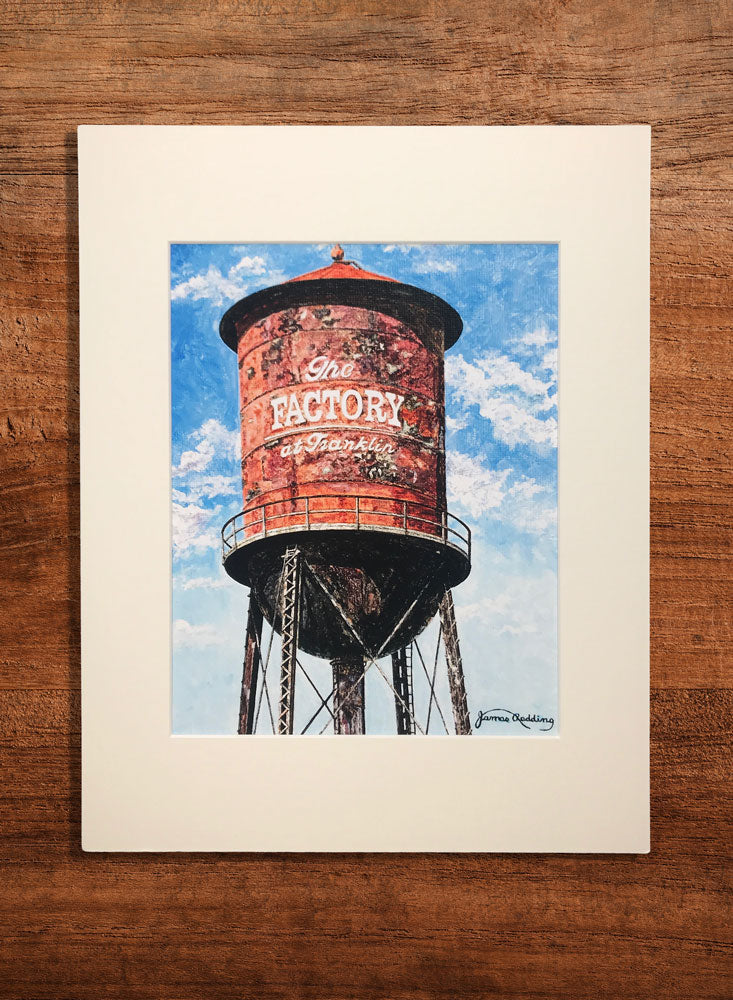 the factory small water tower painting