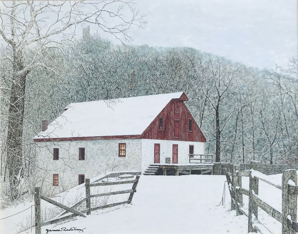 thompson-neely grist mill small art painting