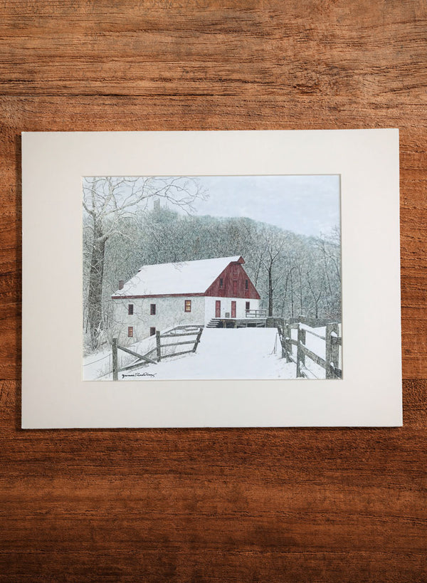 thompson-neely grist mill small landscape painting