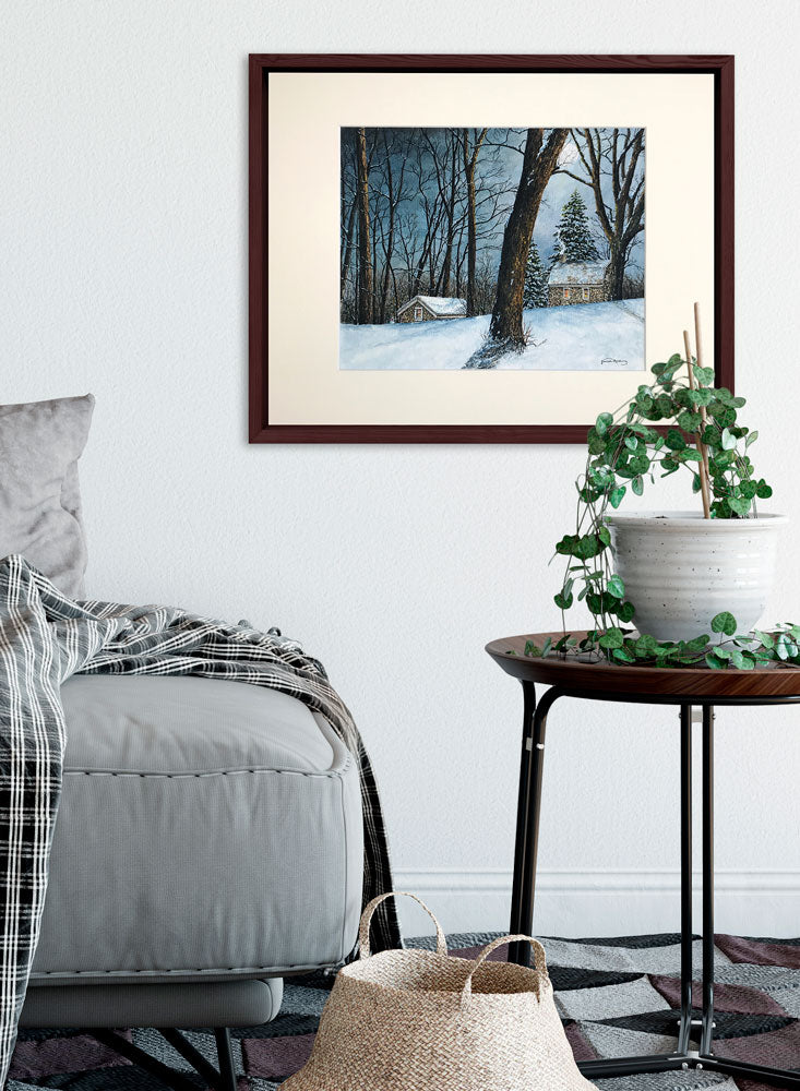 winter moon art home decor