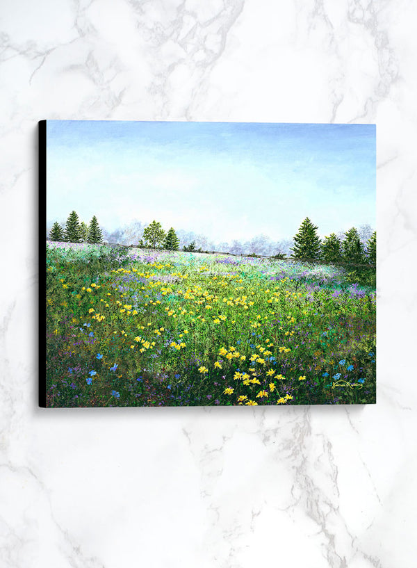 blue skies too canvas spring landscape painting