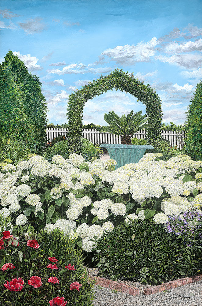the gardens at carnton fine art painting