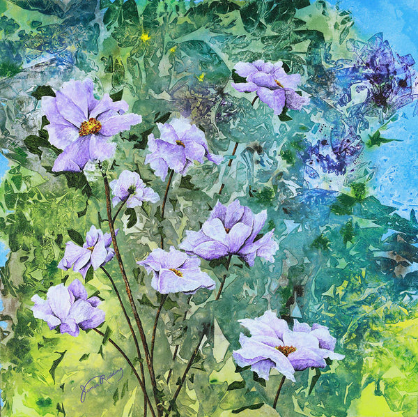 lavender and lime fine art painting