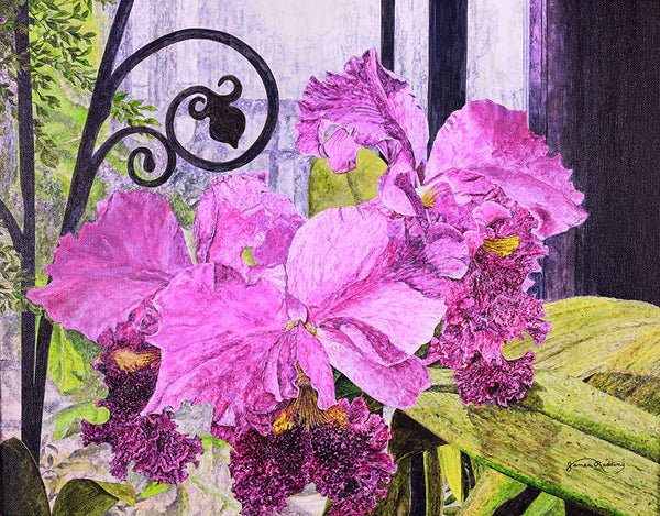 orchid house fine art painting
