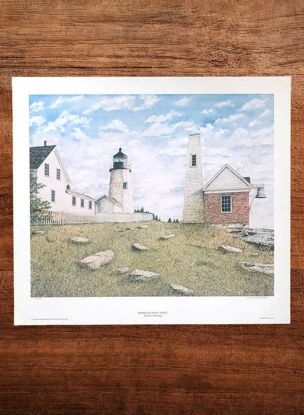 pemaquid point light lighthouse painting