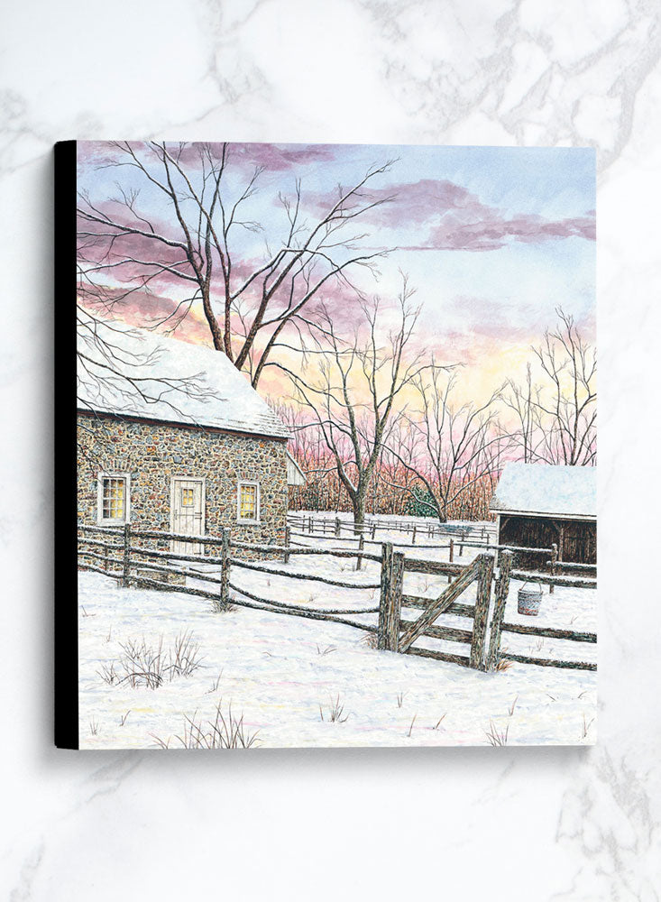 pennsbury manor canvas winter landscape painting