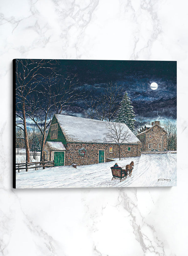 phillips mill canvas winter landscape painting
