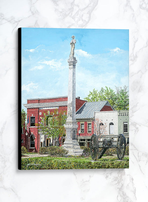 soldier on the square canvas historic landscape painting