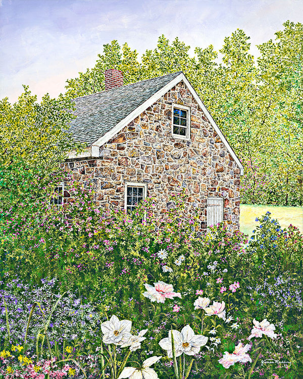 springtime at the blacksmith shop fine art painting