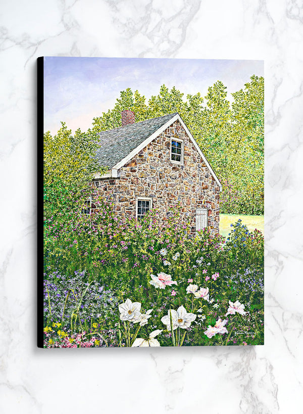 springtime at the blacksmith shop canvas spring landscape painting