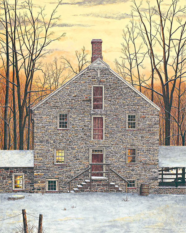 stover's mill fine art painting